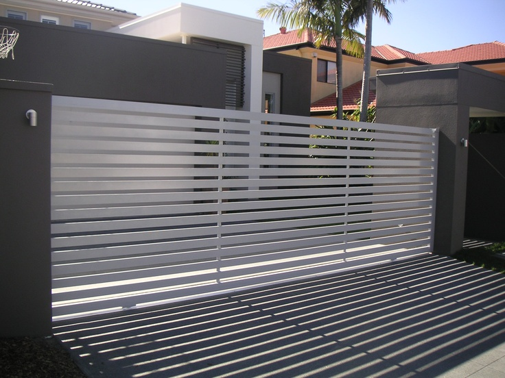 Front fence htm homescapes for Modern front gate design